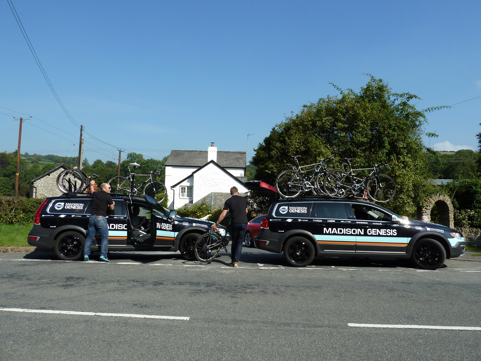 Madison Genesis team at Lloyney Mill